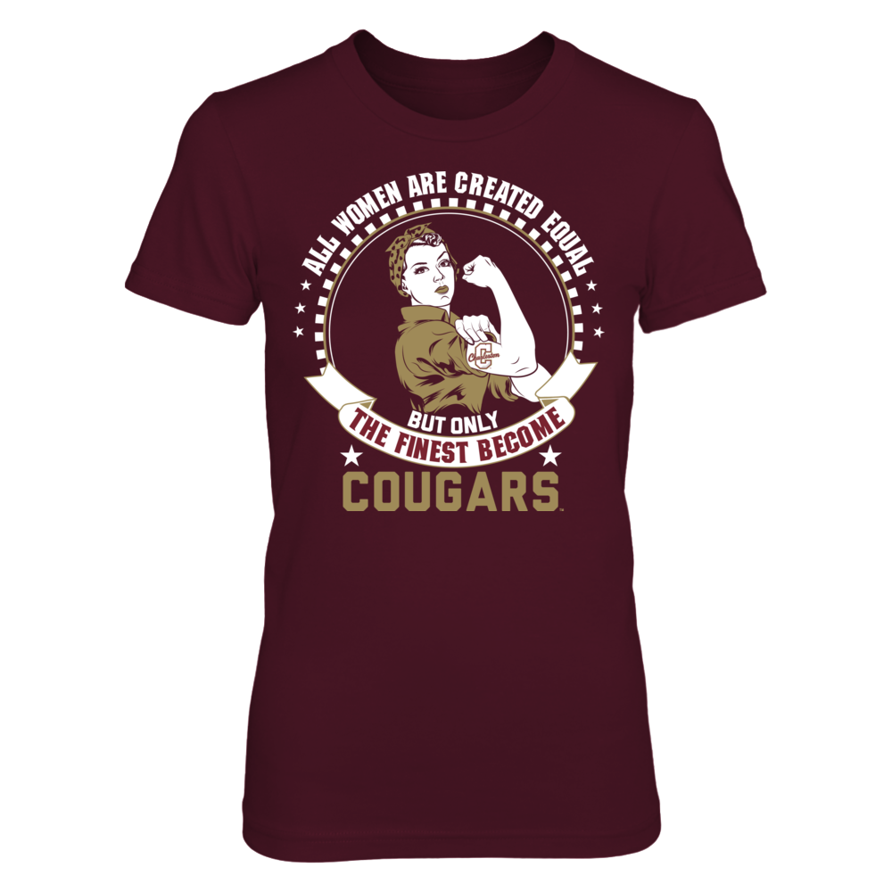 Charleston Cougars All Women Are Created Equal - Charleston Cougars FanPrint