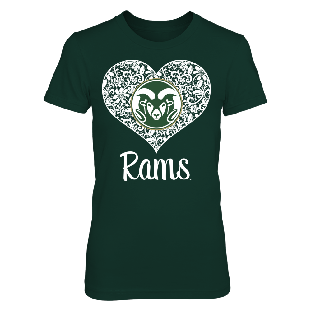Colorado State Rams - Lace Heart Logo Front picture