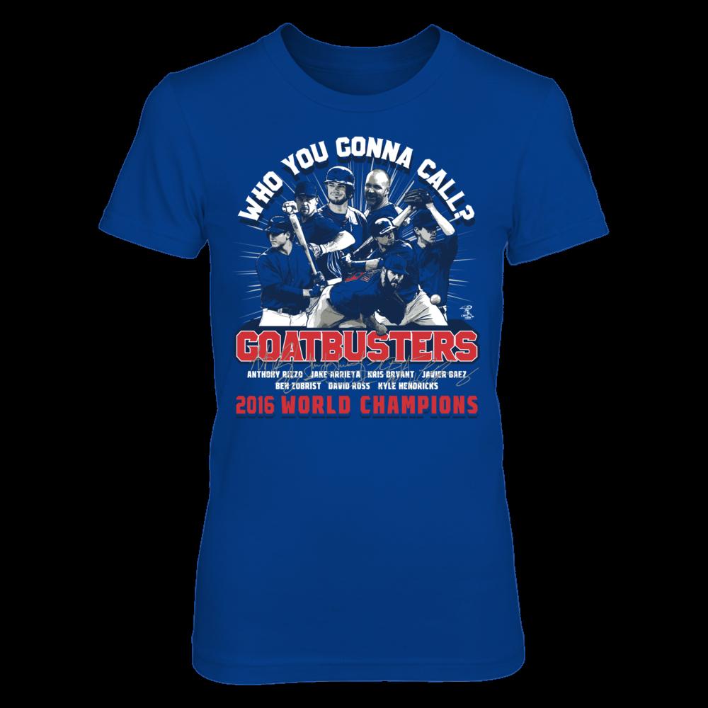 Jake Arrieta Who You Gonna Call? GOATBUSTERS! (2016 World Champions) -  Jake Arrieta FanPrint