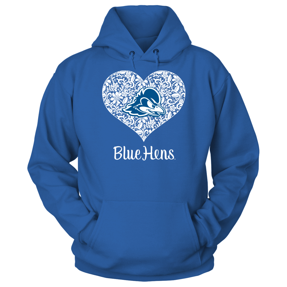 Lace Heart Logo - Delaware Blue Hens Front picture