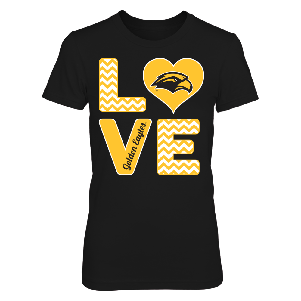Southern Miss Golden Eagles Stacked Love - Southern Miss Golden Eagles FanPrint