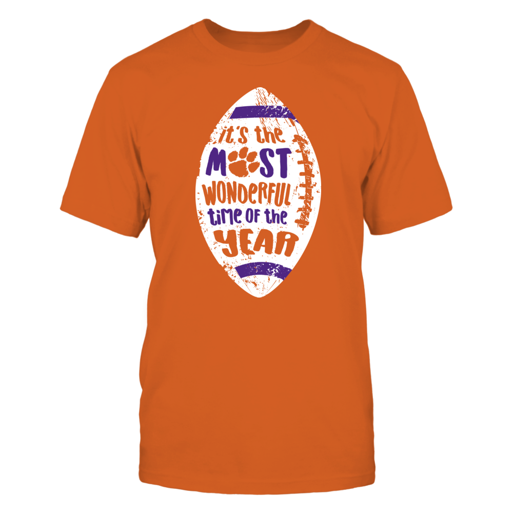 It's The Most Wonderful Time Of The Year - Officially Licensed Clemson Tigers T-Shirt / Hoodie / Mug Front picture