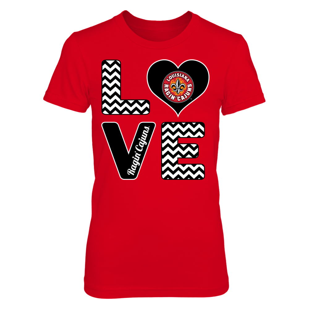 Stacked Love - Louisiana-Lafayette Ragin Cajuns Front picture