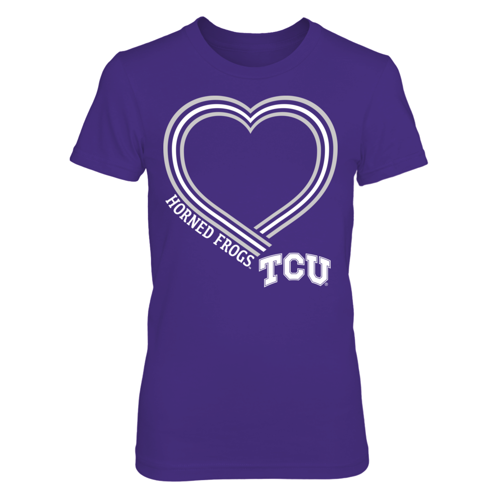 Lined Heart - TCU Horned Frogs Front picture