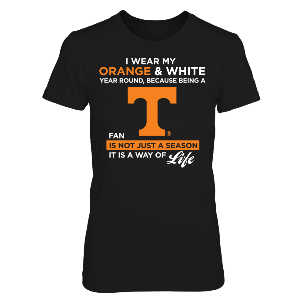 Tennessee Volunteers - I Wear My Orange And White Front picture