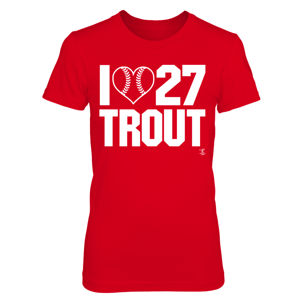 I Heart Number w. Baseball - Mike Trout Front picture
