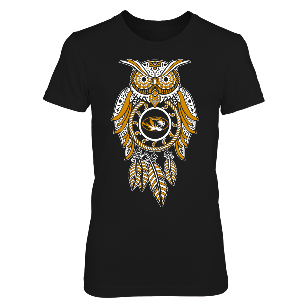 Sugar Skull Owl - Mizzou Tigers Front picture