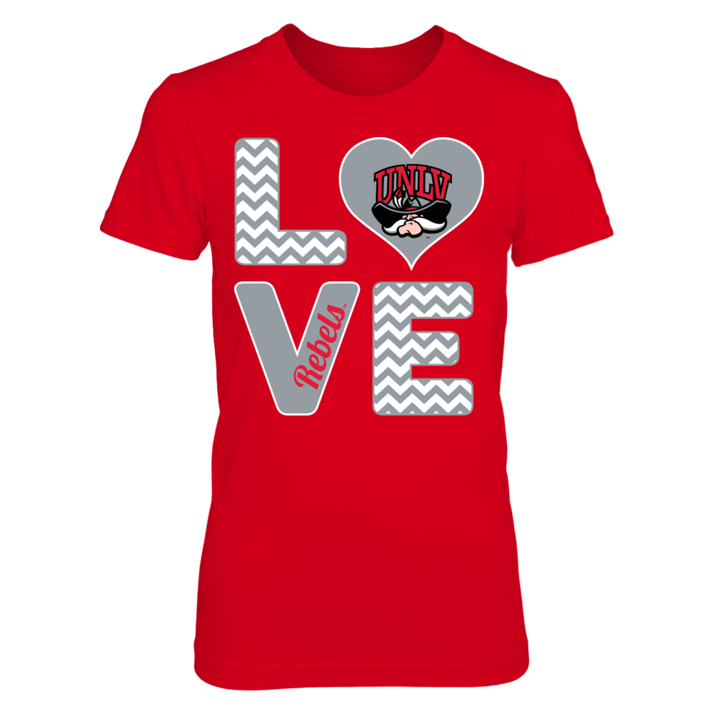 UNLV Rebels Stacked Love - UNLV Rebels FanPrint