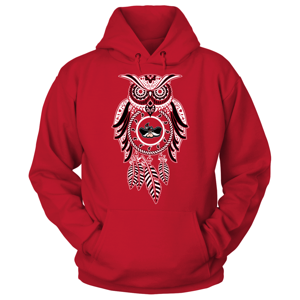 UNLV Rebels Sugar Skull Owl - UNLV Rebels FanPrint