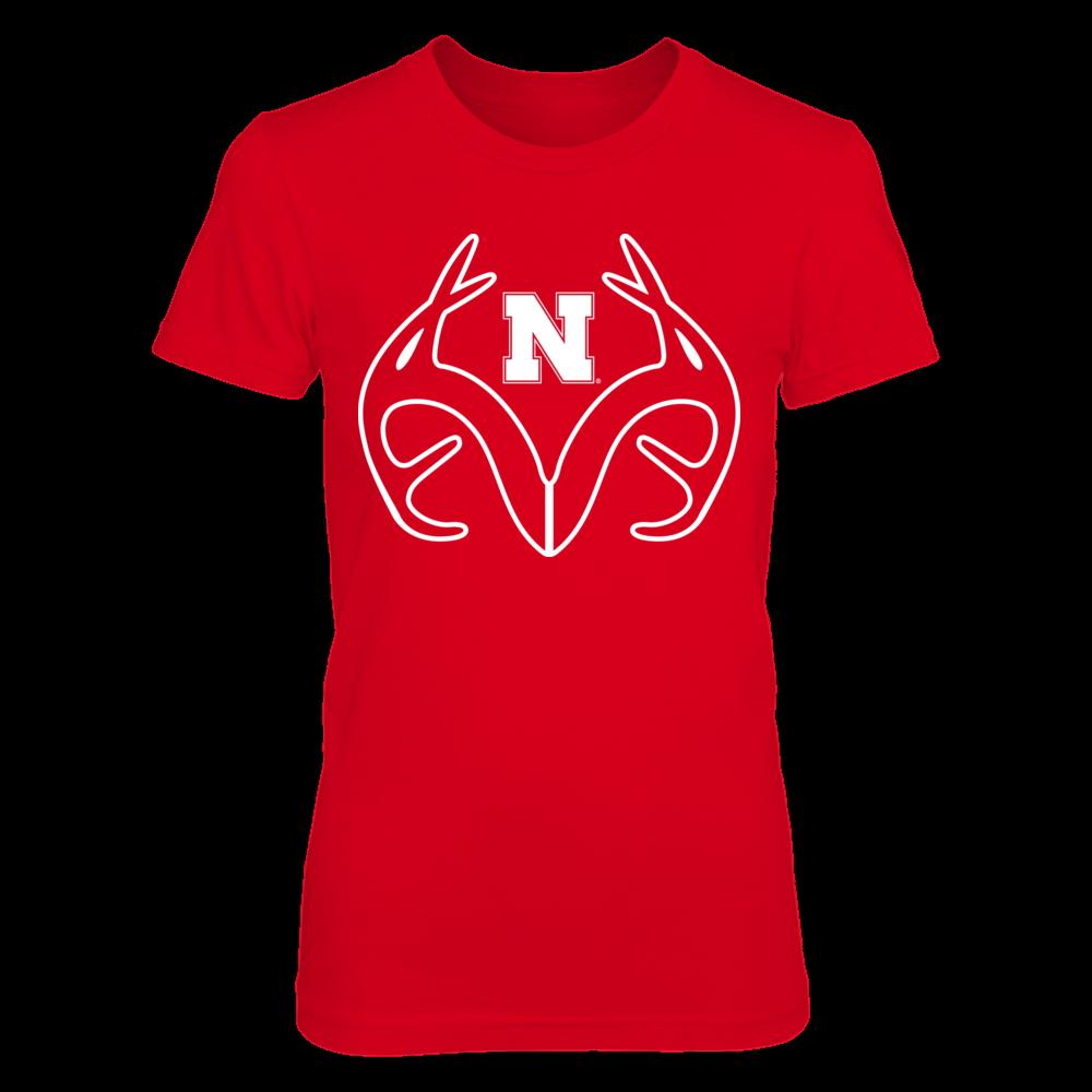 Antler Logo - Nebraska Cornhuskers Front picture