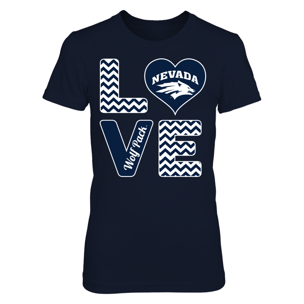 Nevada Wolf Pack Stacked Love - Nevada Wolf Pack FanPrint