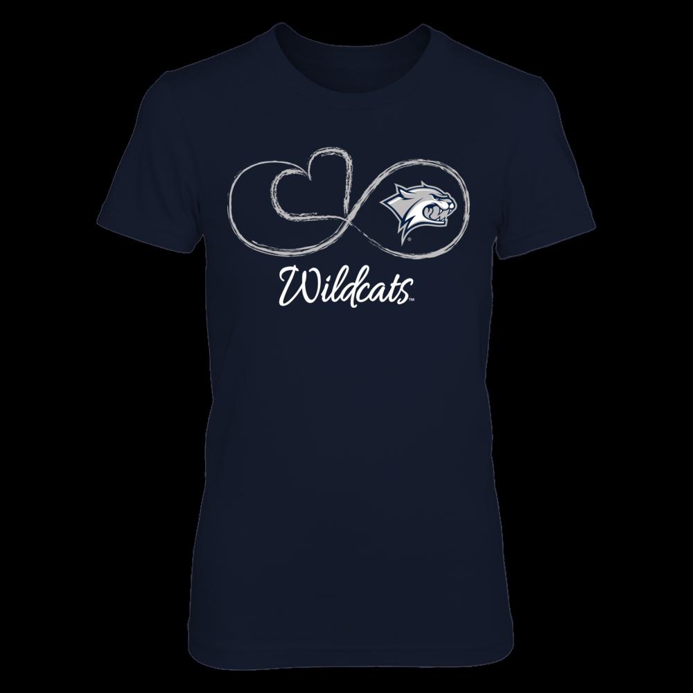 New Hampshire Wildcats Infinite Heart - New Hampshire Wildcats FanPrint