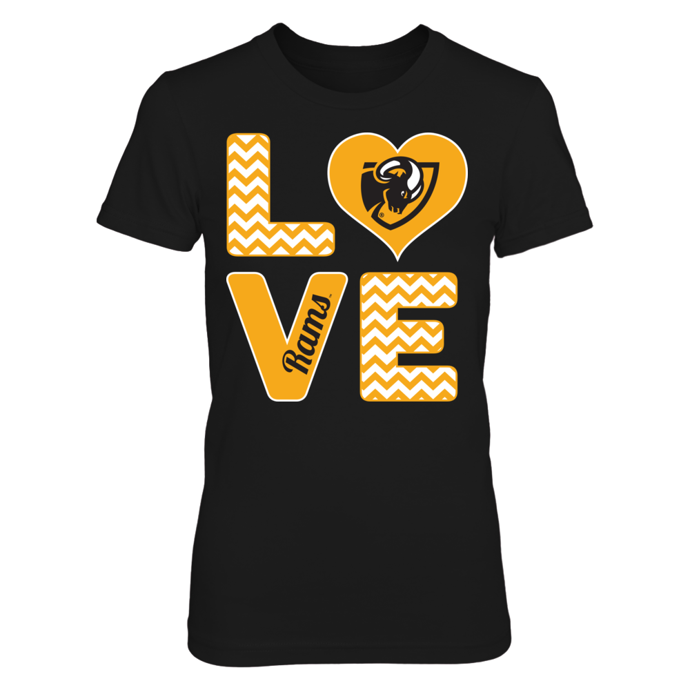 Virginia Commonwealth Rams Stacked Love - Virginia Commonwealth Rams FanPrint