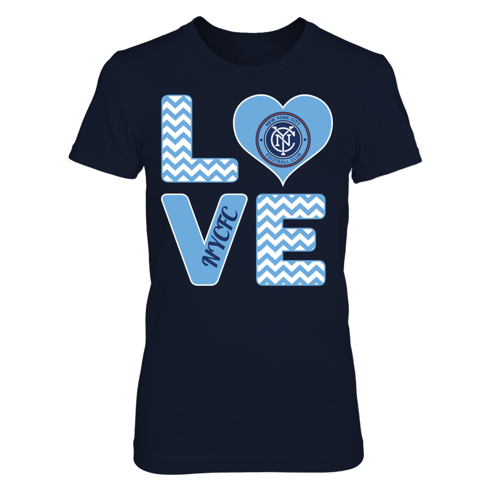 New York City FC Stacked Love - New York City FC FanPrint