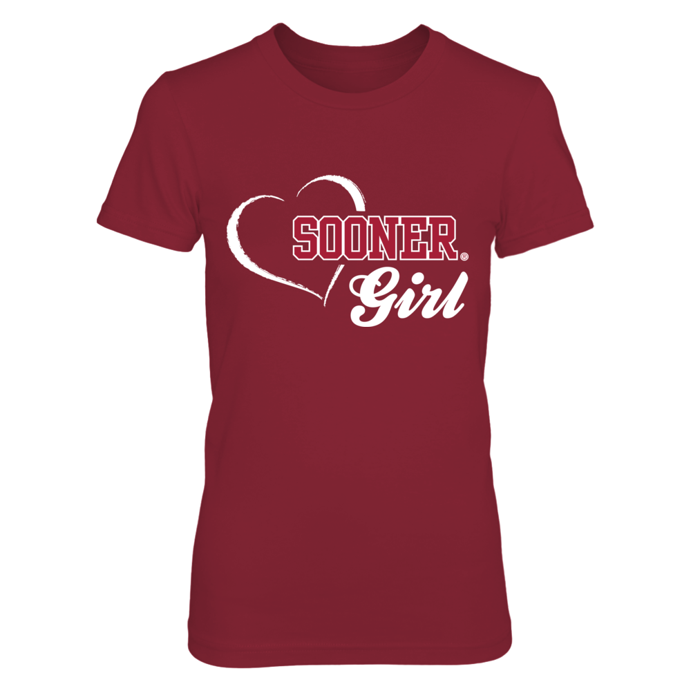 Sooner Girl - Oklahoma Sooners T Shirt Front picture