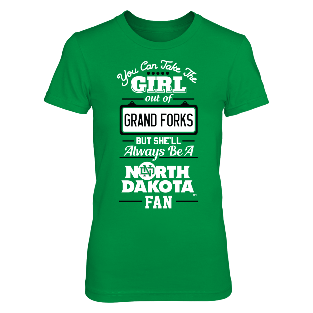 North Dakota Fighting Hawks Take The Girl Out But She'll Always Be - North Dakota Fighting Hawks FanPrint