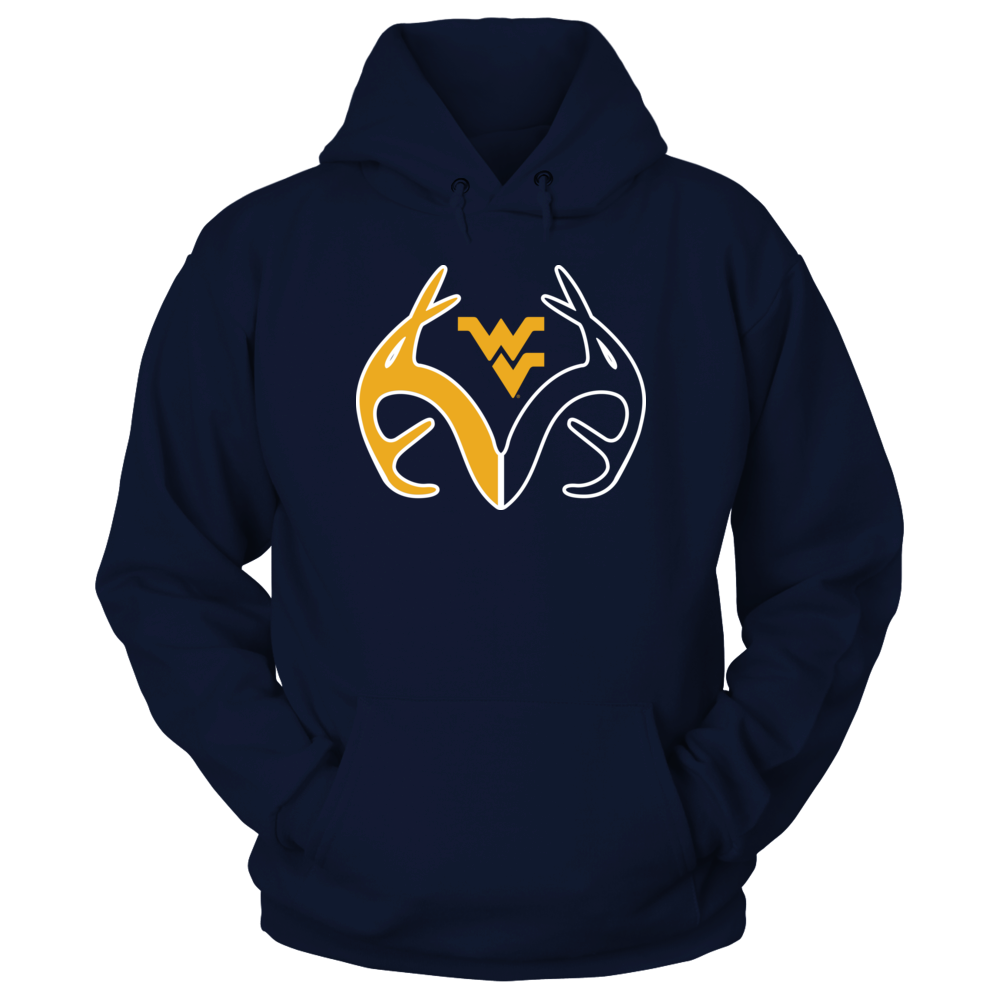 Antler Logo - West Virginia Mountaineers Front picture