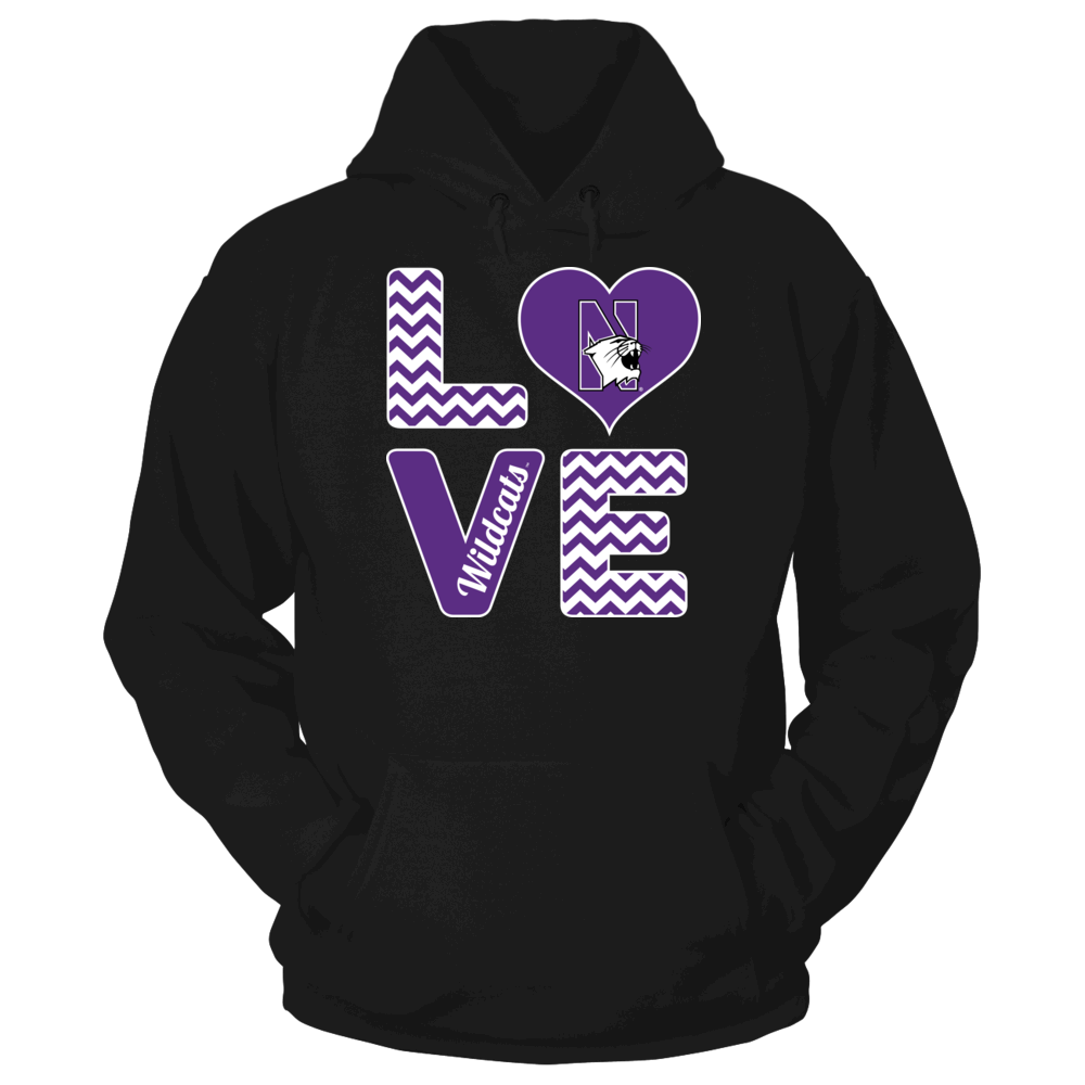 Stacked Love - Northwestern Wildcats Front picture