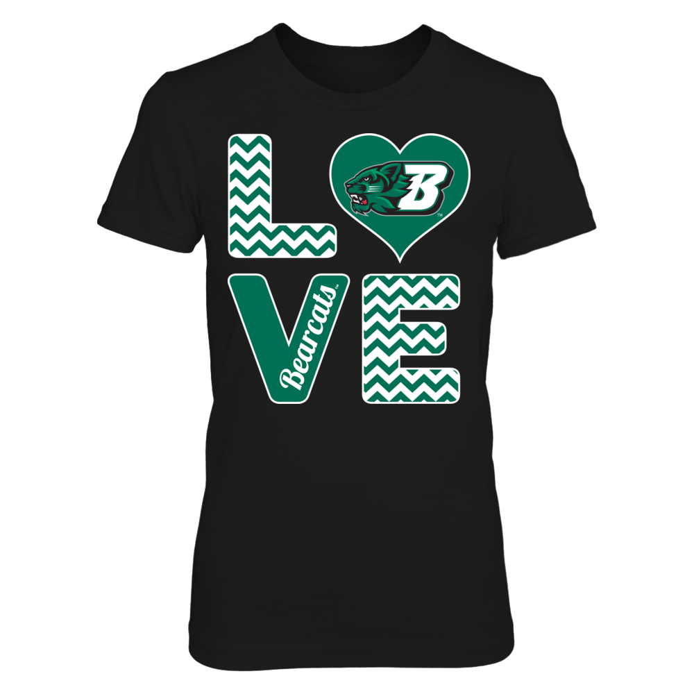 Binghamton Bearcats Stacked Love - Binghamton Bearcats FanPrint