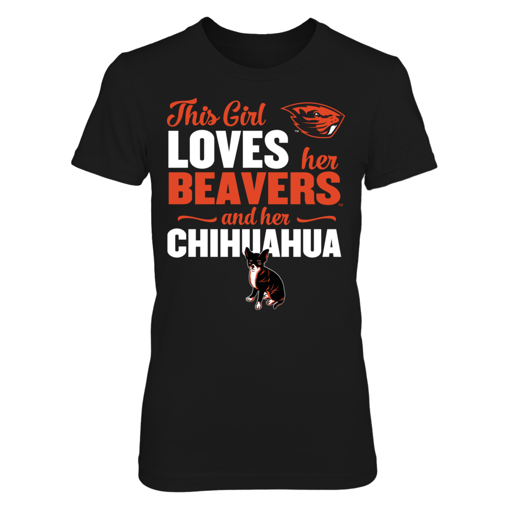 This Girl Loves Her Dog (Chihuahua) - Oregon State Beavers Front picture