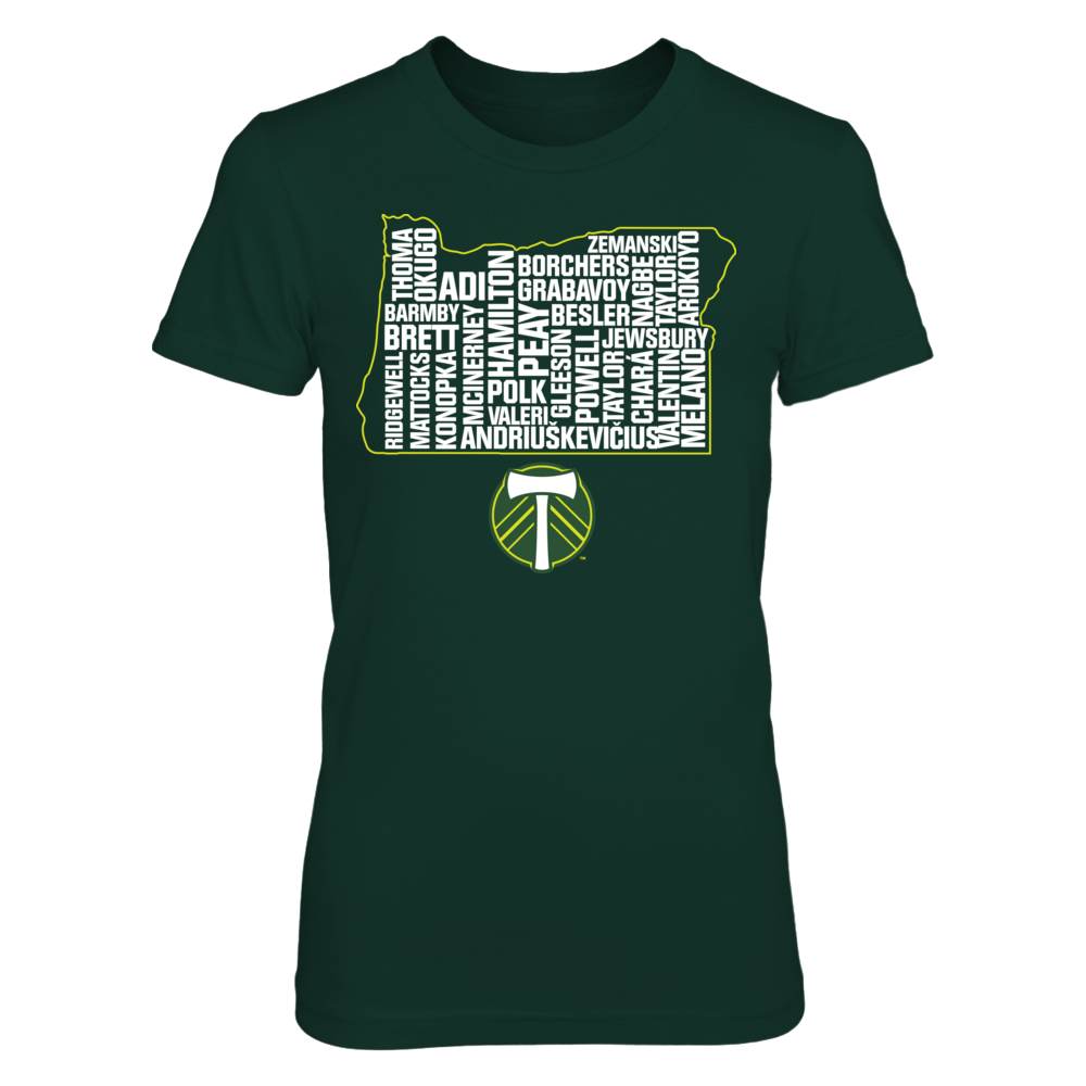 Oregon State Outline - Portland Timbers Front picture