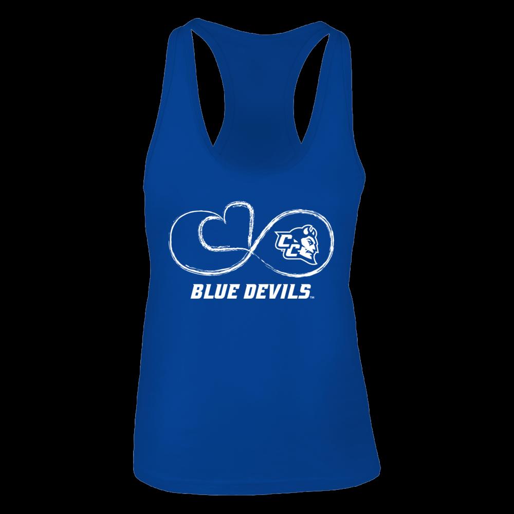 Central Connecticut Blue Devils Infinite Heart - Central Connecticut Blue Devils FanPrint