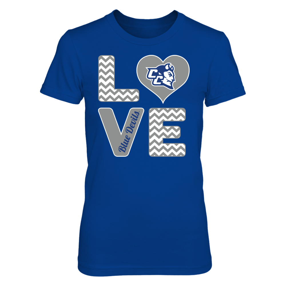 Central Connecticut Blue Devils Stacked Love - Central Connecticut Blue Devils FanPrint