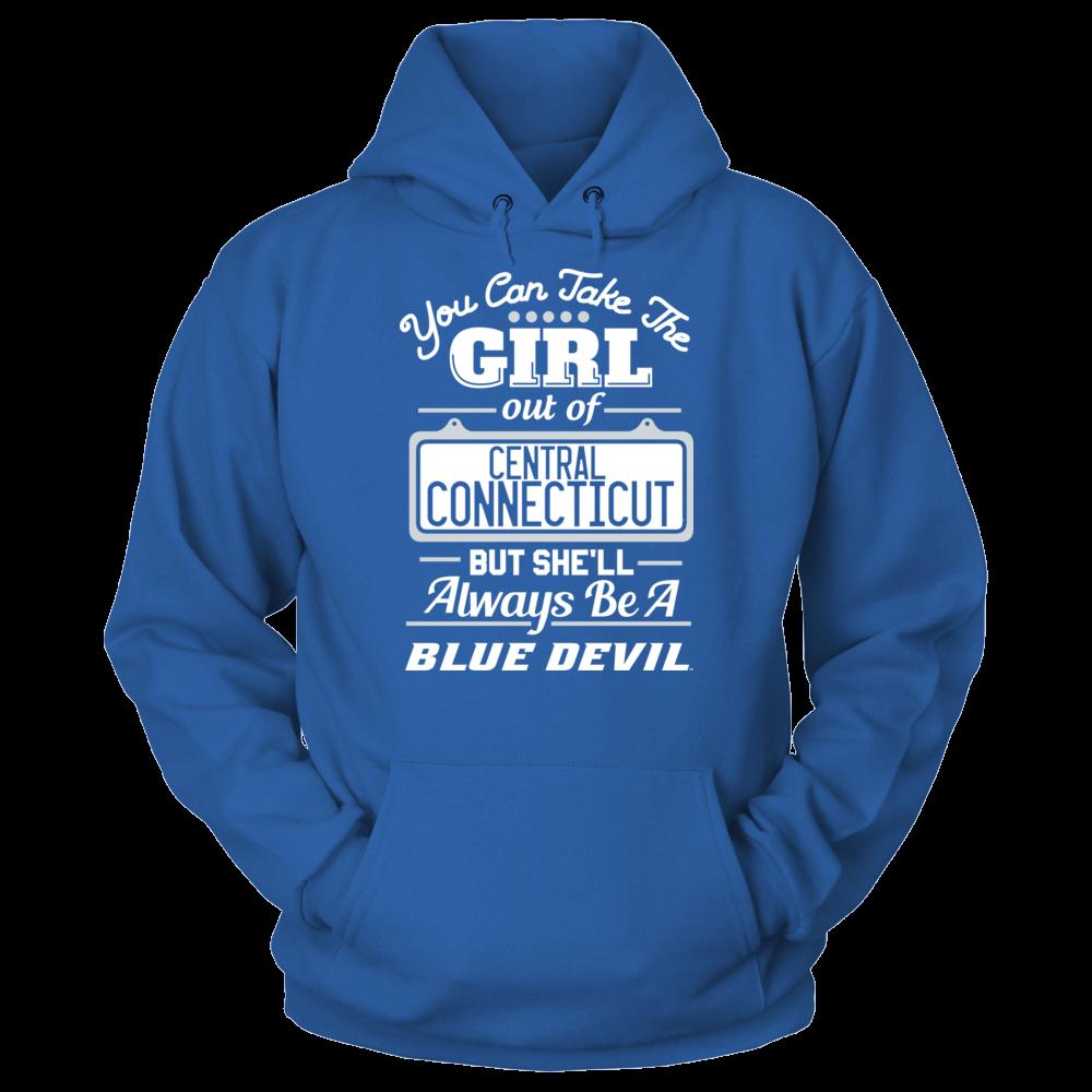 Central Connecticut Blue Devils Take The Girl Out But She'll Always Be - Central Connecticut Blue Devils FanPrint