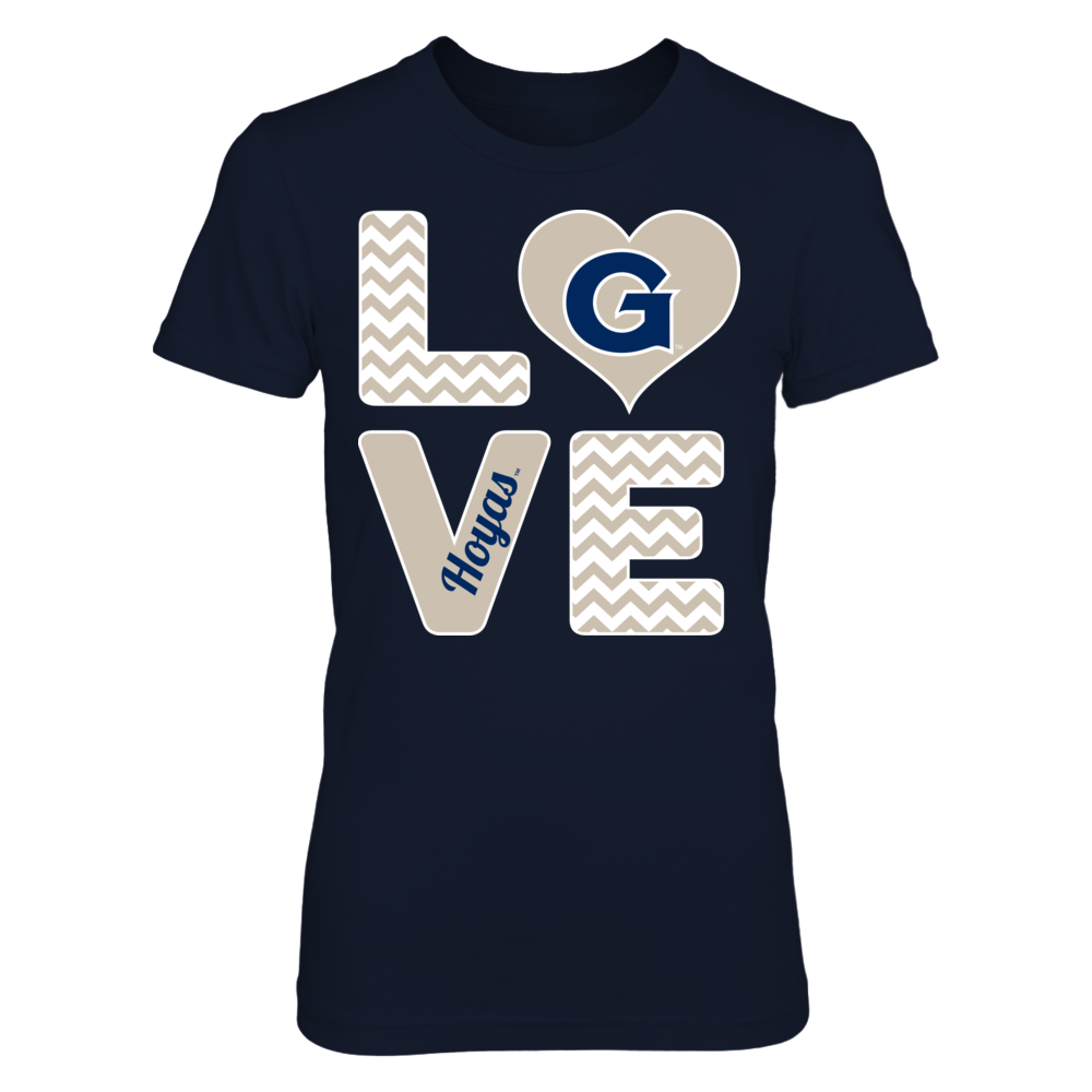 Georgetown Hoyas Stacked Love - Georgetown Hoyas FanPrint