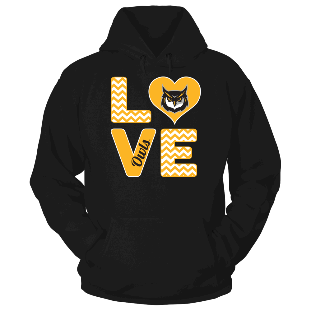 Kennesaw State Owls Stacked Love - Kennesaw State Owls FanPrint