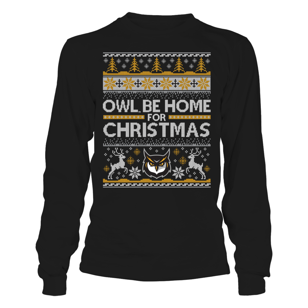 Kennesaw State Owls Owl Be Home For Christmas (Ugly Christmas Sweater) - Kennesaw State Owls FanPrint