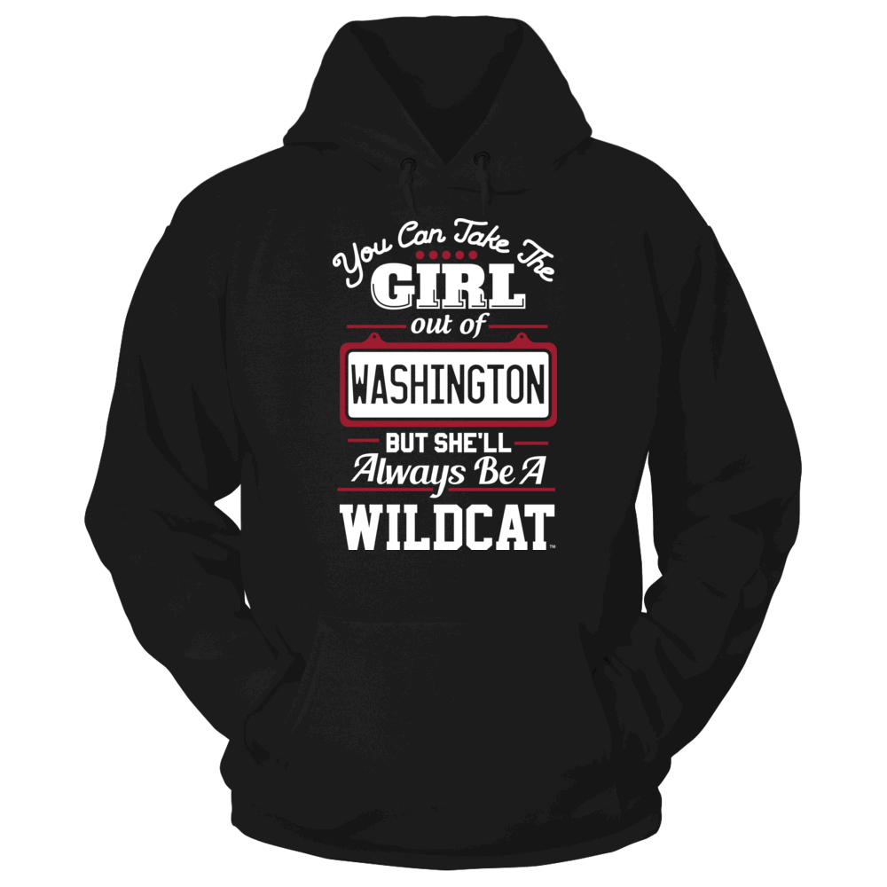 Central Washington Wildcats Take The Girl Out But She'll Always Be - Central Washington Wildcats FanPrint