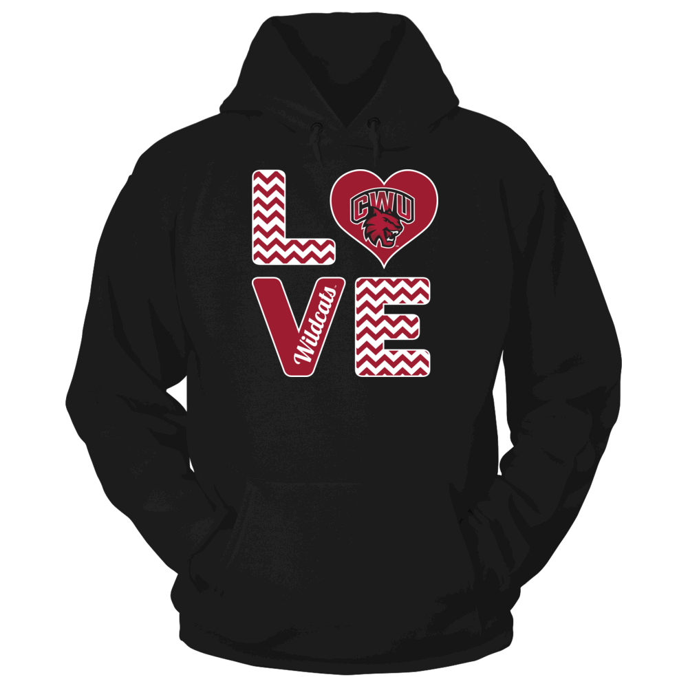Central Washington Wildcats Central Washington Wildcats - Stacked Love FanPrint