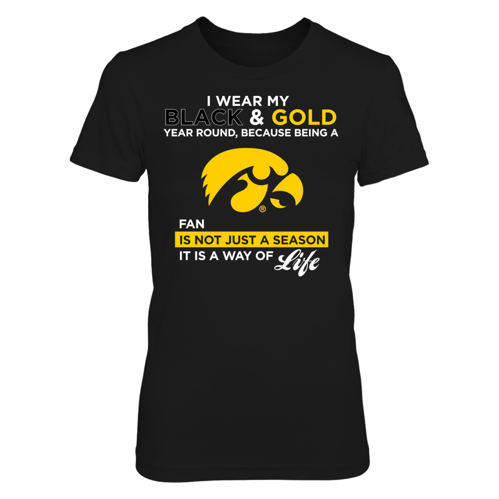 I Wear My Black & Gold - Iowa Hawkeyes Front picture