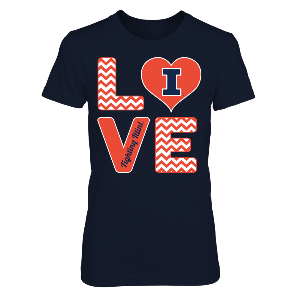 Stacked Love - Fighting Illini Front picture