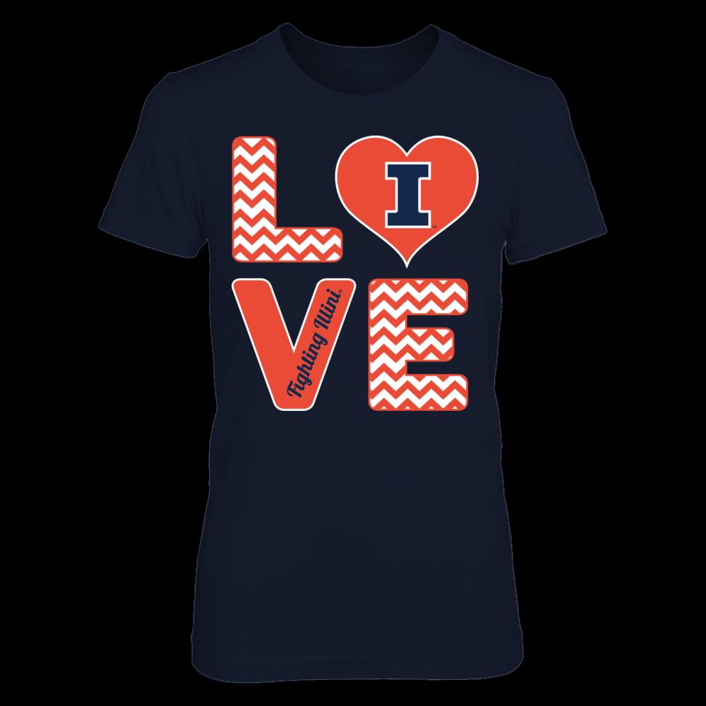 Illinois Fighting Illini Stacked Love - Fighting Illini FanPrint