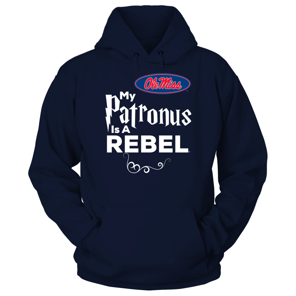 Official Ole Miss Rebels Fan Gear My Patronus Is A Rebel Front picture