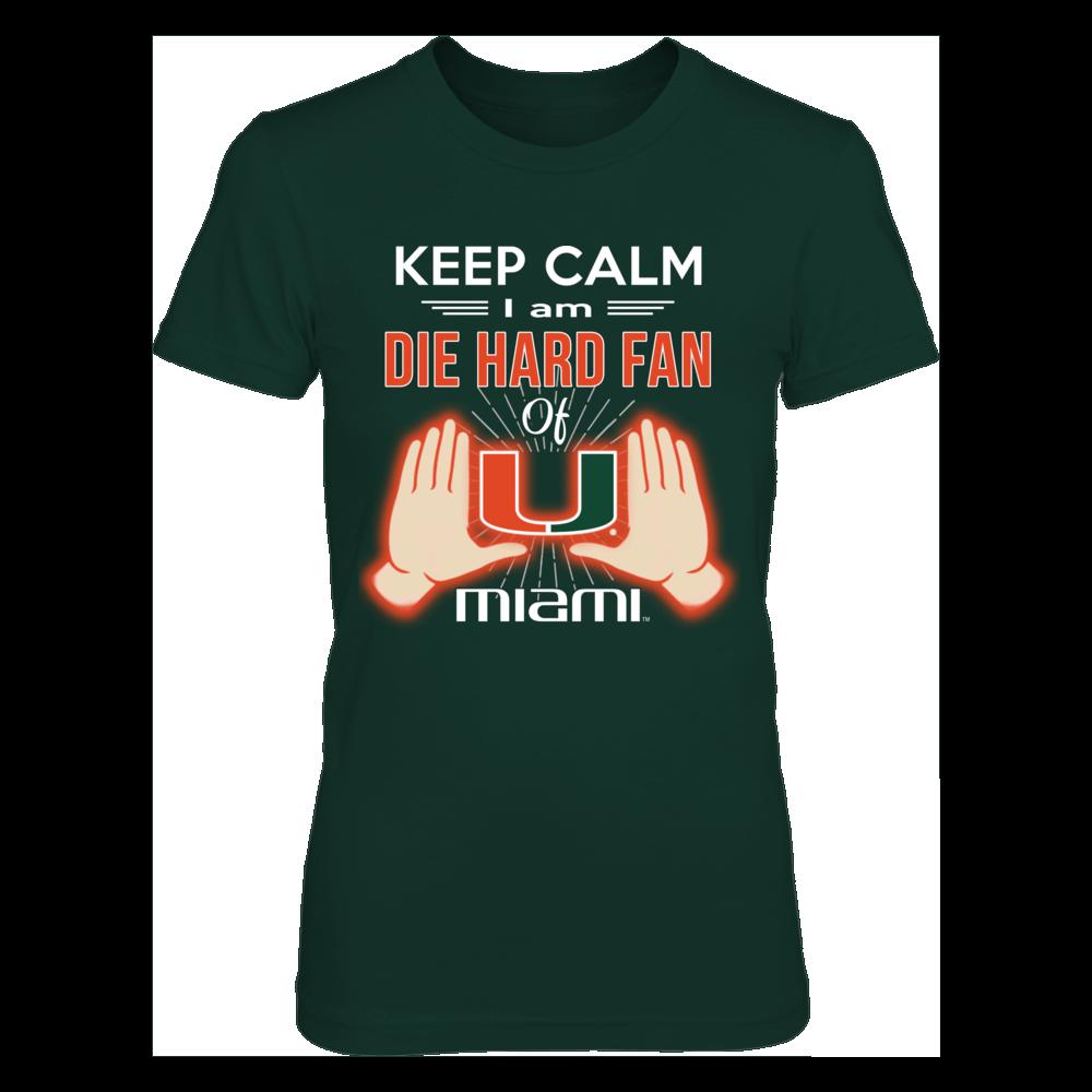 Miami Hurricanes Die hard fan Miami FanPrint