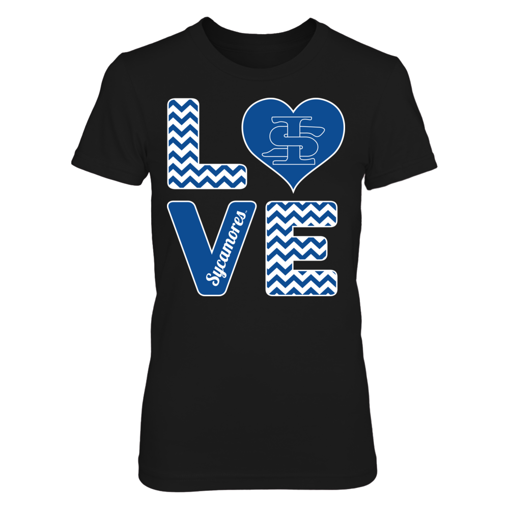 Indiana State Sycamores Stacked Love - Indiana State Sycamores FanPrint