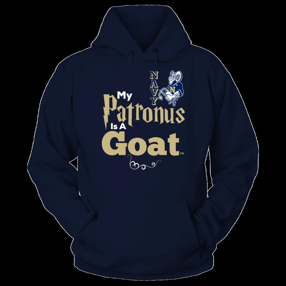 Official Navy Midshipmen Fan Gear My Patronus Is A Goat Front picture