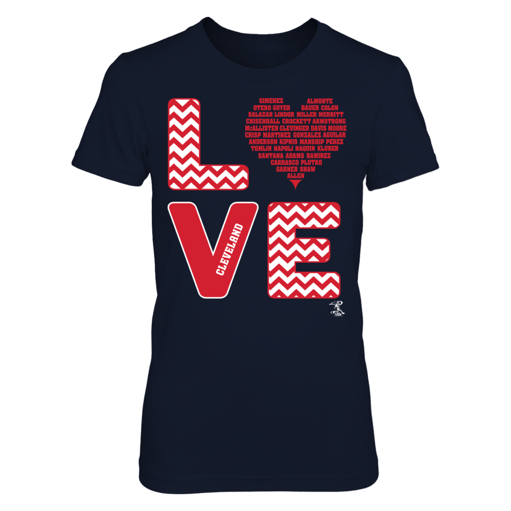 Francisco Lindor Stacked Love - Cleveland FanPrint