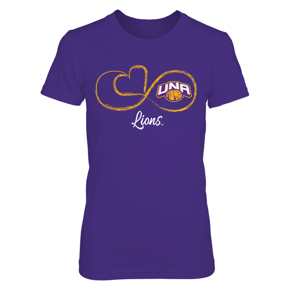 North Alabama Lions Infinite Heart - North Alabama Lions FanPrint