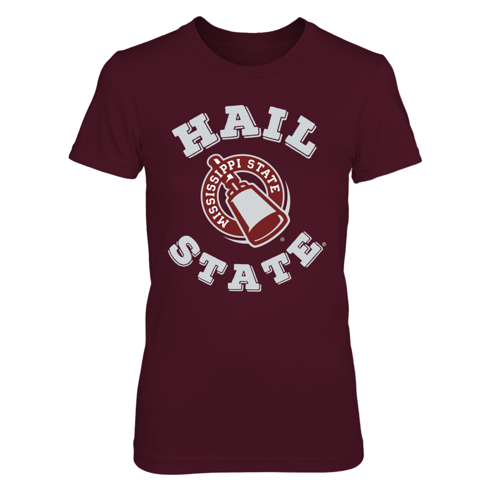 Official Mississippi State Fan Merchandise Hail State Cowbell Front picture