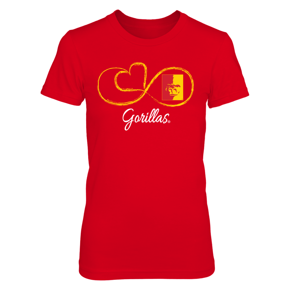 Pittsburg State Gorillas Infinite Heart - Pittsburg State Gorillas FanPrint
