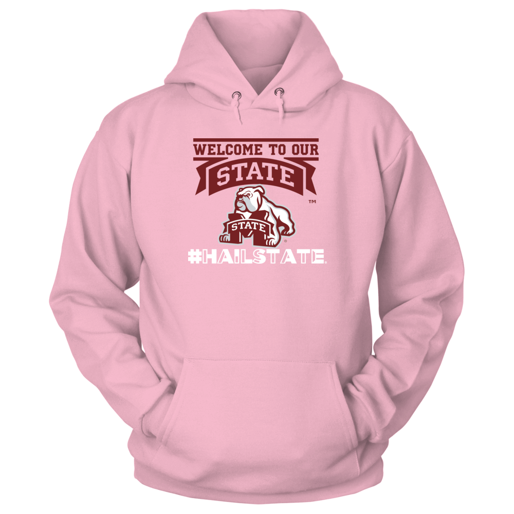 Official Mississippi State Fan Merchandise #HailState Welcome Bulldog Front picture