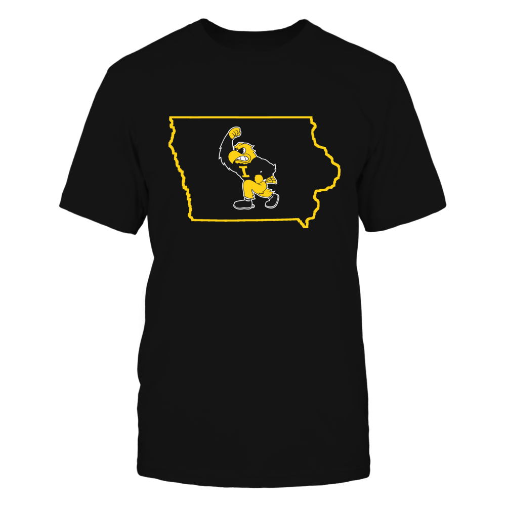HERKY IN STATE OUTLINE - IOWA HAWKEYES Front picture