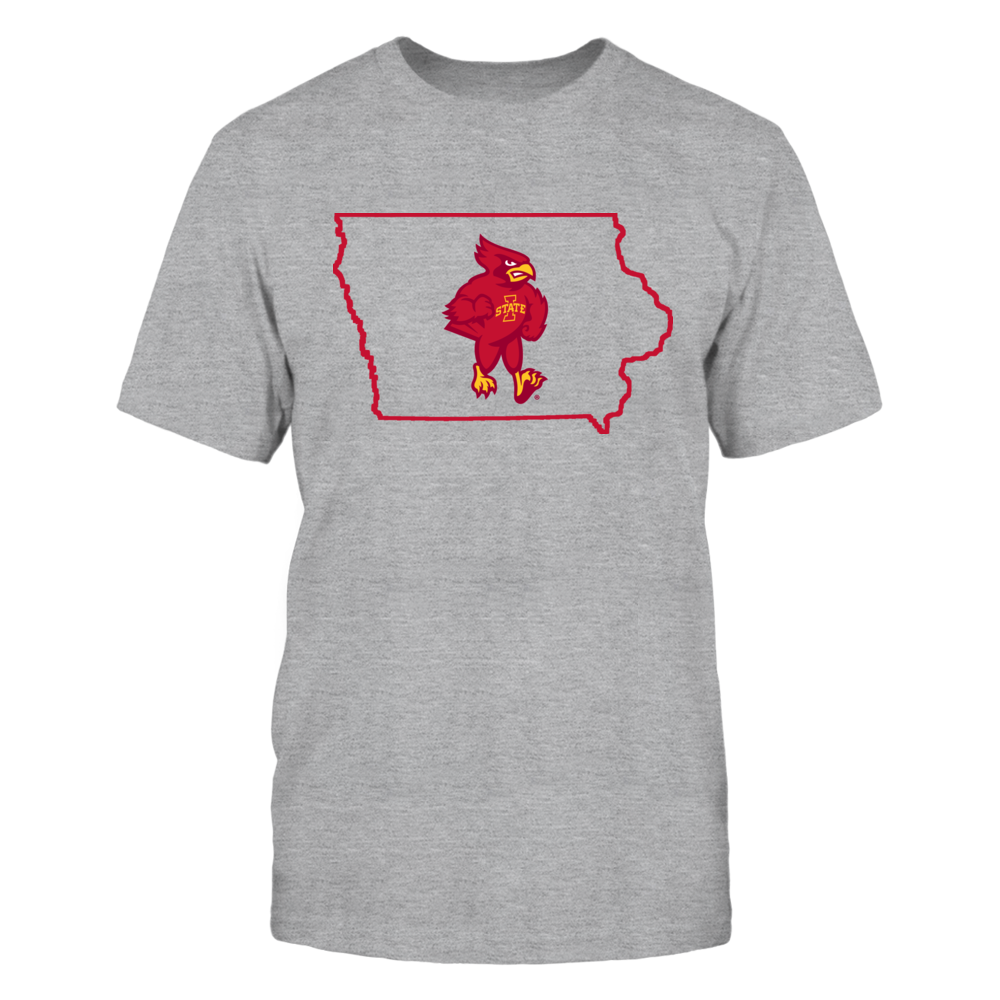 Iowa State Cyclones CY IN STATE OUTLINE - IOWA STATE CYCLONES FanPrint
