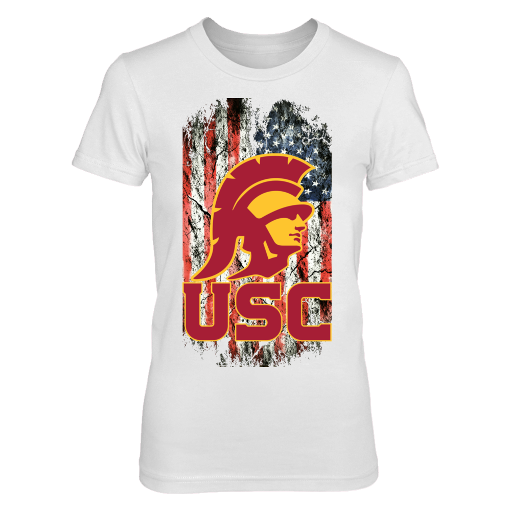 Official Licensed USC Trojans Fangear Tattered Flag Trojan Front picture