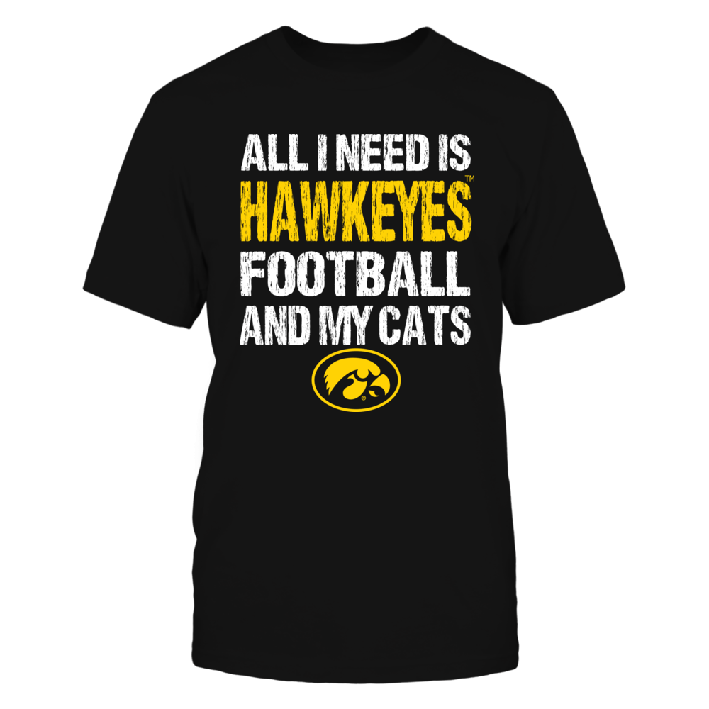 Iowa Hawkeyes - All I Need - Football n Cats Front picture