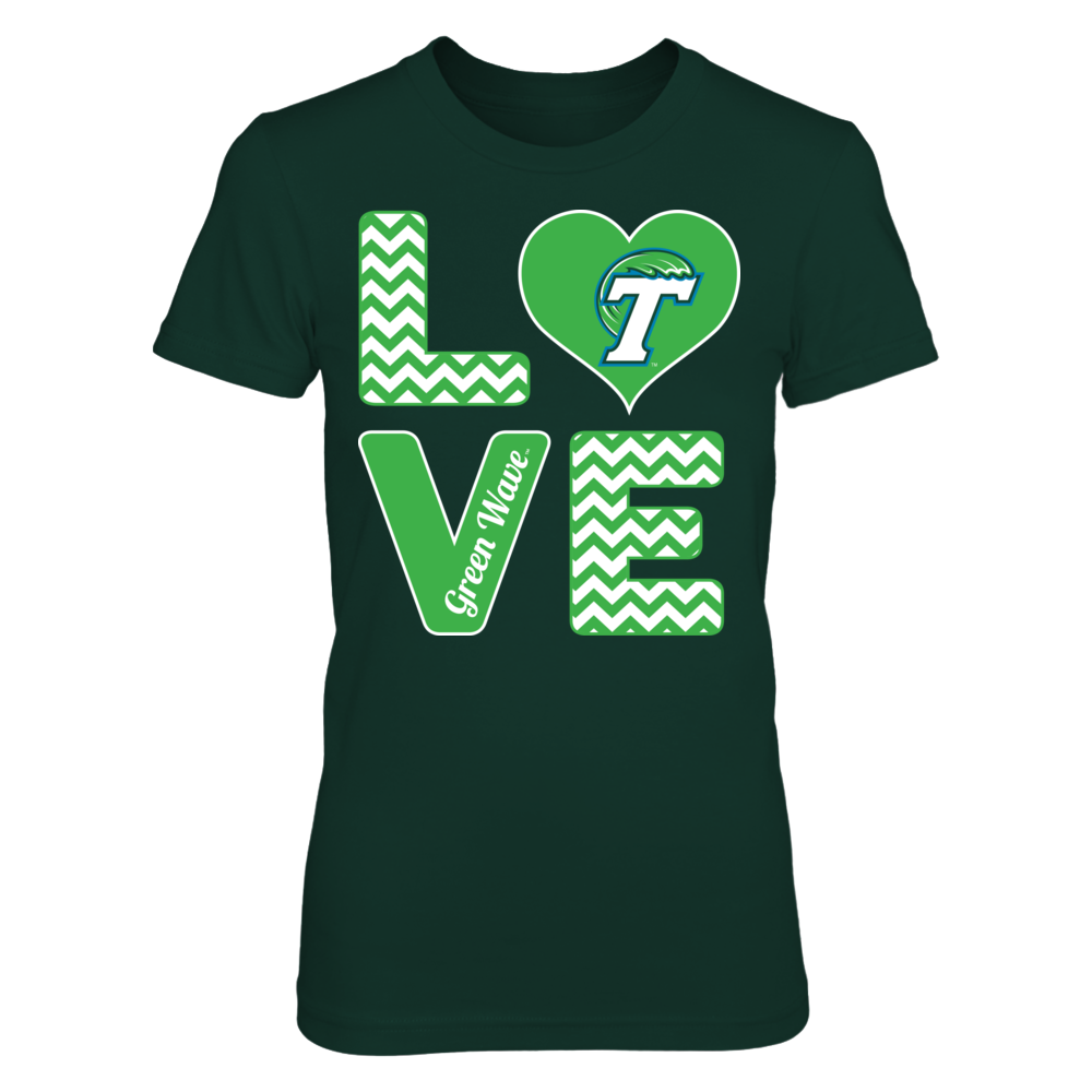 Stacked Love -  Tulane Green Wave Front picture